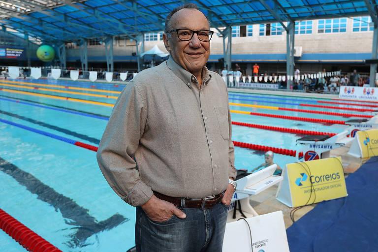 O novo presidente da Confederação de Desportos Aquáticos, Miguel Cagnoni, em Santos – Satiro Sodré/SSPress/CBDA