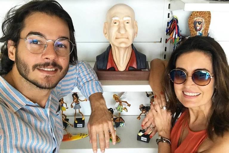 Túlio Gadêlha e a apresentadora Fátima Bernardes