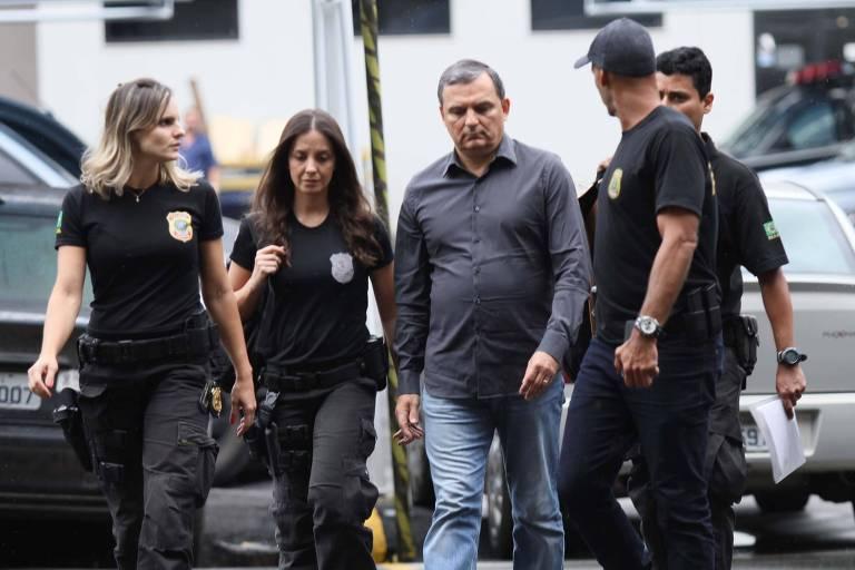 Regis Fichtner, ex-chefe da Casa Civil do Rio, quando foi preso em novembro de 2017