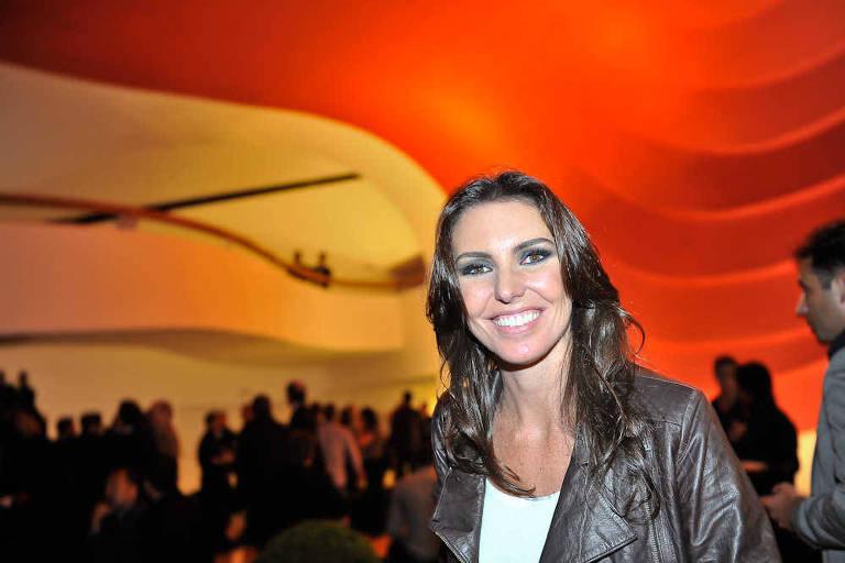 Glenda Kozlowski no Prêmio Craque Brasileirão, em 2011, no auditório do Ibirapuera em São Paulo