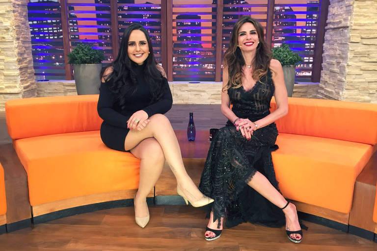 "Perlla é a convidada da noite do ""Luciana By Night"" (Rede TV)"