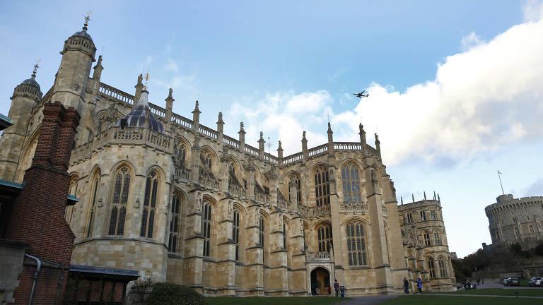 Vista geral da capela Saint George, no castelo de Windsor, na Inglaterra