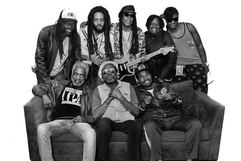 A banda de reggae The Wailers faz show em São Paulo