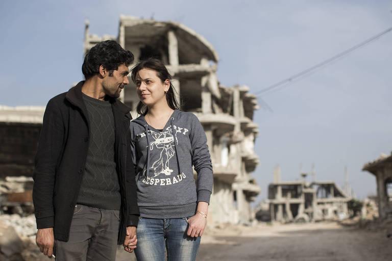 O casal Barzan Iso e Raushan Khalil é usado por Patrícia Campos Mello para retratar guerra na Síria) ORG XMIT: XAC102