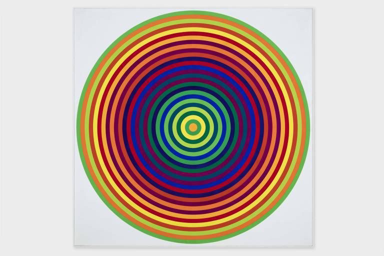 """""""Série 23 14 - 4"""" (1971), de Julio Le Parc, exposta na mostra do Tomie Ohtake"""