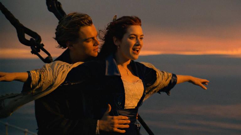 """No filme """"Titanic"""", Jack e Rose vivem uma história de amor com um final trágico"""