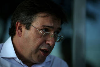 Wilson Ferreira Jr, Eletrobras Chief Executive Officer, speaks during an interview with Reuters in Rio de Janeiro