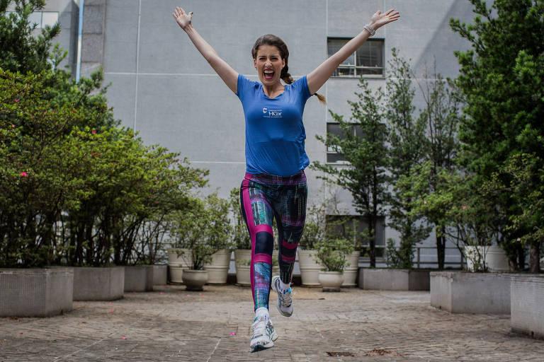 Patricia Fonseca, que esta de cora��o novo ha dois anos. Apos o transplante, ela tornou-se triatleta