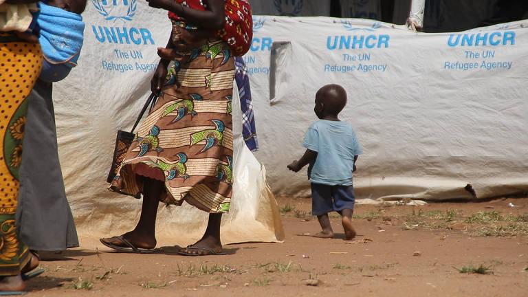 Assentamento de refugiados Bidi Bidi, em Uganda