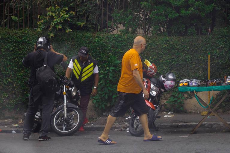 Mototáxi na zona sul de São Paulo, em 2019
