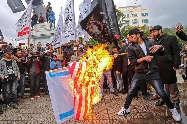 Protestos contra Donald Trump no Oriente M�dio