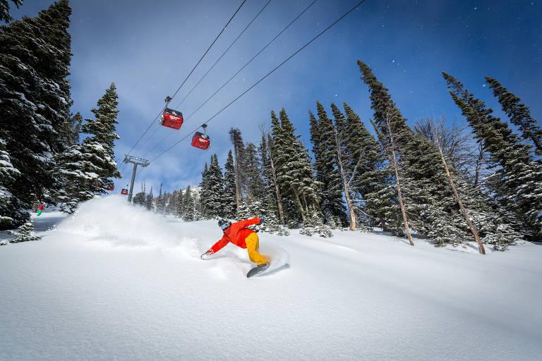 Estações de esqui no hemisfério Norte