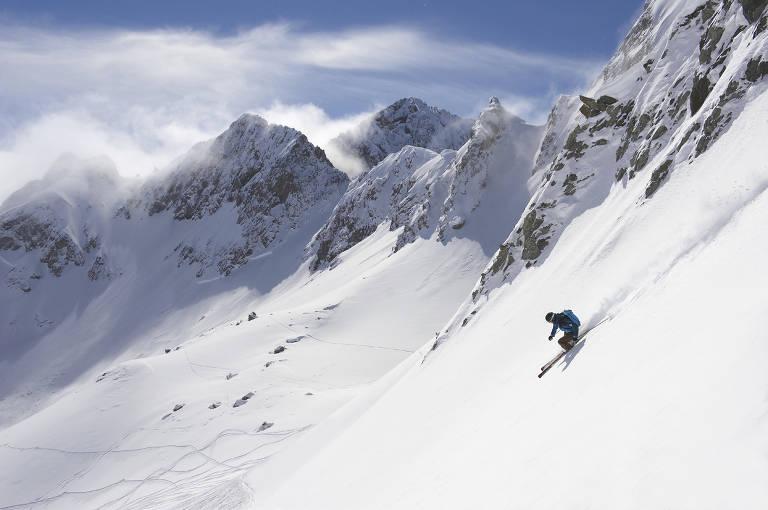 Esta��es de esqui no hemisf�rio Norte