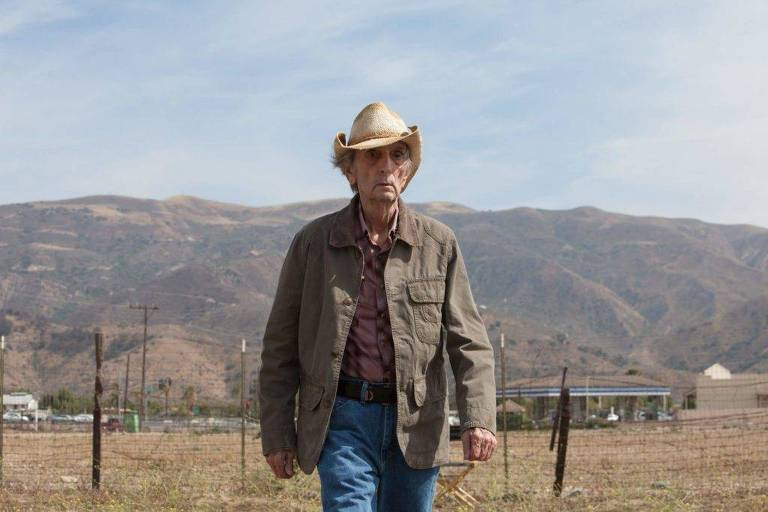 "Harry Dean Stanton em cena do filme ""Lucky"""