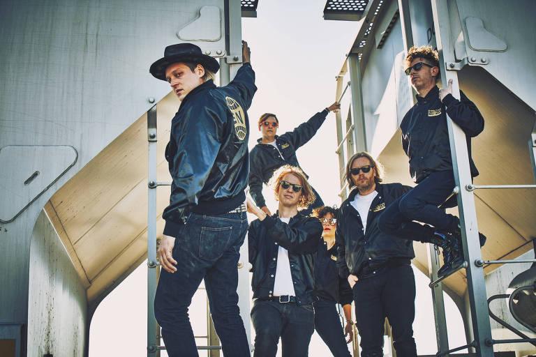 A banda de indie rock canadense Arcade Fire faz show no Anhembi