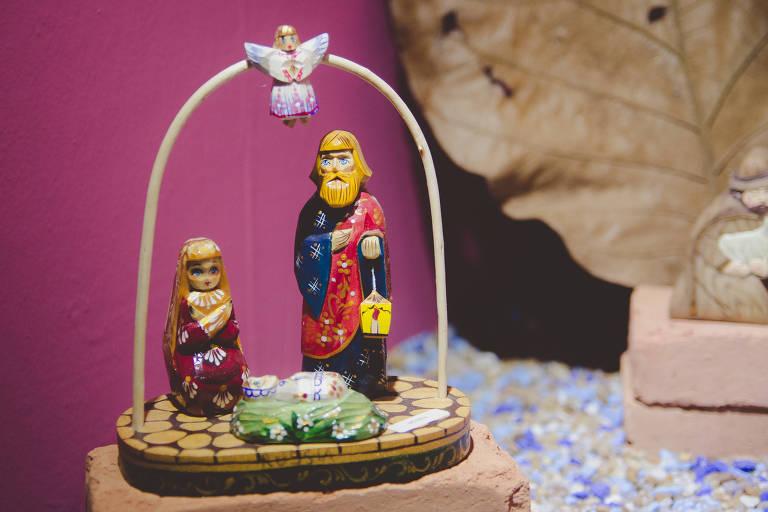 Presépio exposto na 28ª Exposição Franciscana de Presépios