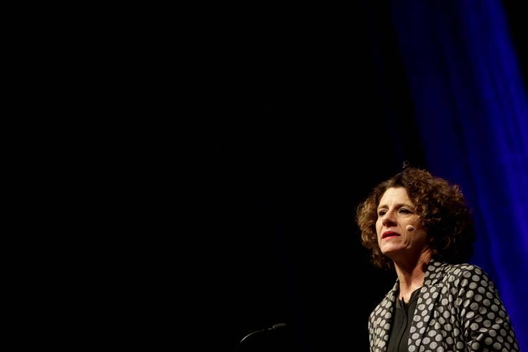 A psicóloga canadense Susan Pinker proferiu palestra no evento Fronteiras do Pensamento.