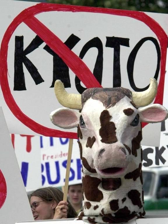 Estudantes americanos protestam contra Protocolo de Kyoto