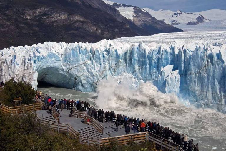 Geleira Perito Moreno na Argentina