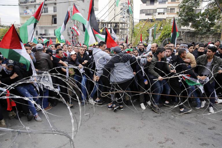 Protestos na Cisjordânia e no Oriente Médio