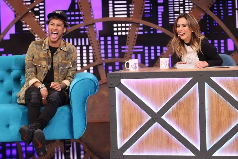 Neymar e Tatá Werneck no programa Lady Night – Divulgação/Multishow