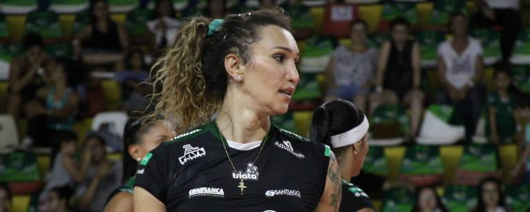 Primeira transexual a atuar na Superliga, Tifanny fez sua estreia neste domingo contra o São Caetano – Neide Carlos/Vôlei Bauru