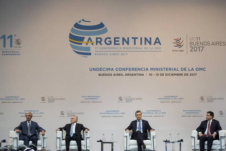 Líderes se reúnem em congresso da OMC