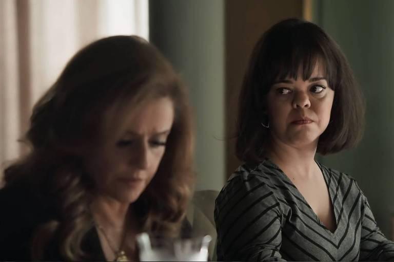 Juliana Caldas e Marieta Severo em cena de 'Outro Lado do Paraíso' (Globo)