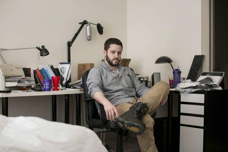 Cody Wilson, que criou a Hatreon para dar a personalidade da direita alternativa uma maneira de levantar fundos para projetos, em Austin (Texas)