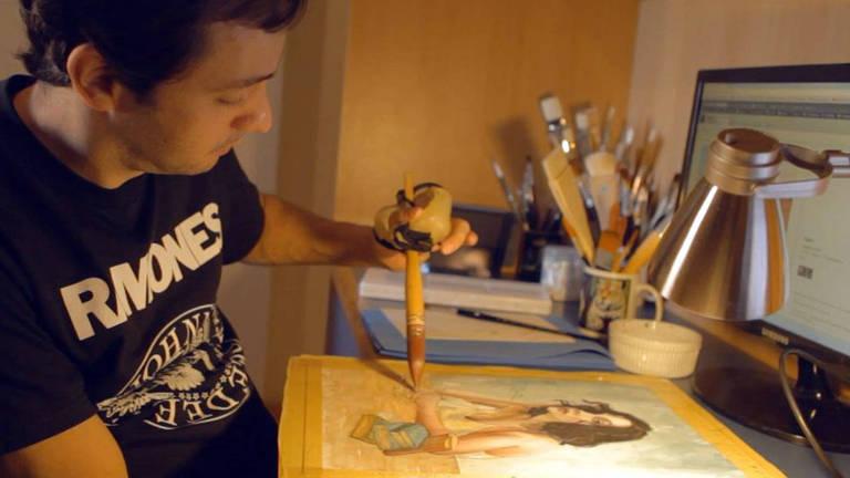 'Virei pintor após ficar tetraplégico'