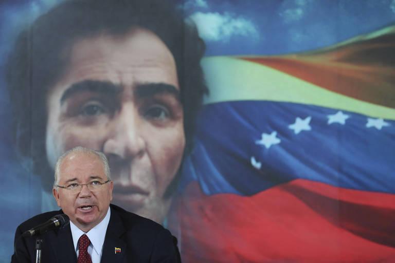 O ex-presidente da PDVSARafael Ramírez, em 2014; seu primo é um dos investigados