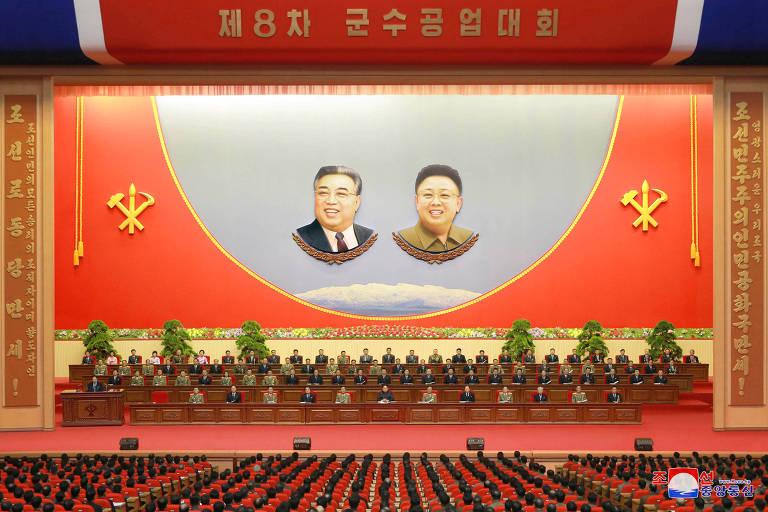 Membros da cúpula do regime norte-coreano se reúnem em convenção da indústria militar em Pyongyang