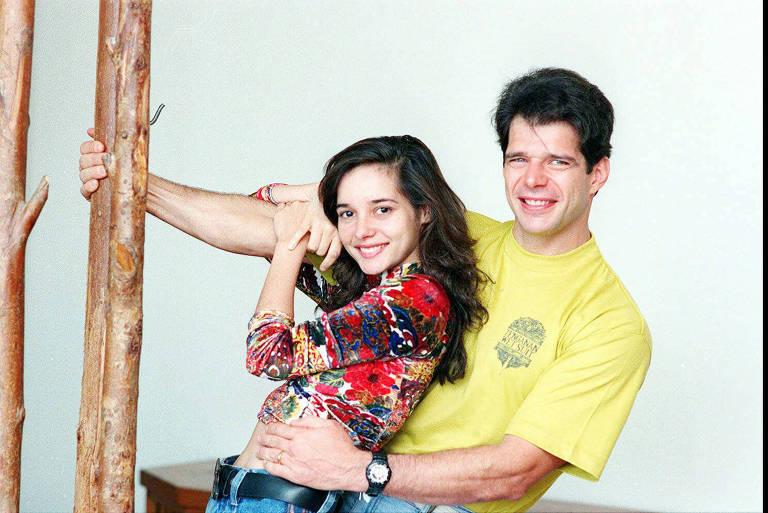 A atriz Daniella Perez e o ator Raul Gazolla, na década de 1990