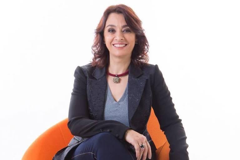 A apresentadora Catia Fonseca