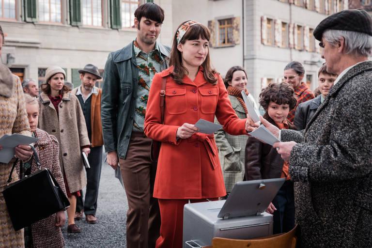 A atriz Marie Leuenberger em cena do filme 'Mulheres Divinas'