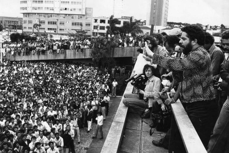 Greve de metalúrgicos no ABC paulista em 1979