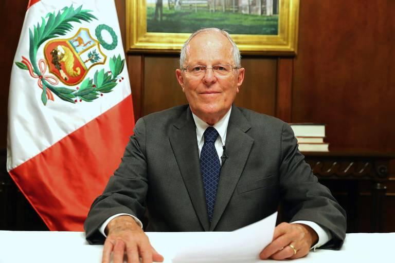 O presidente do Peru, Pedro Pablo Kuczynski, se pronuncia sobre o caso Odebrecht na noite de quarta