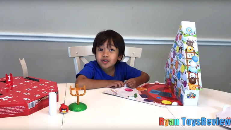 O youtuber Ryan, do canal Ryan ToysReview