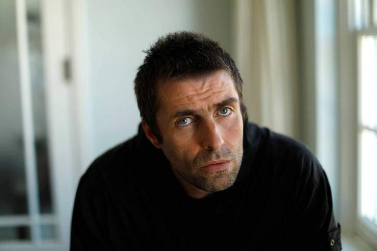 Liam Gallagher posa em Santa Monica