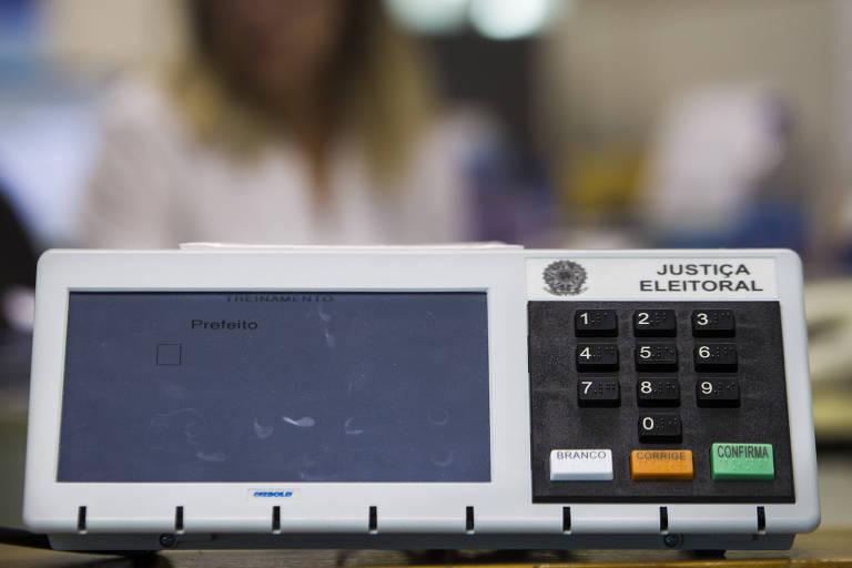 Imagem mostra urna eletrônica utilizada nas eleições