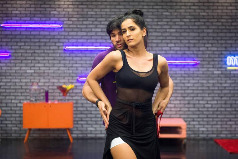 """Maria Joana durante ensaio antes da final do """"Dança dos Famosos"""""""