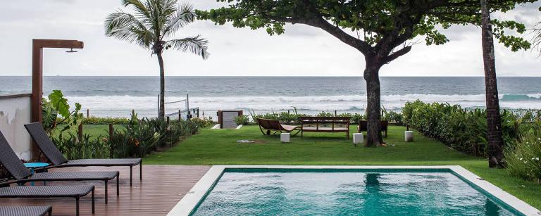 Casa de luxo na praia de Maresias, no litoral norte do estado de São Paulo – Eduardo Anizelli/Folhapress
