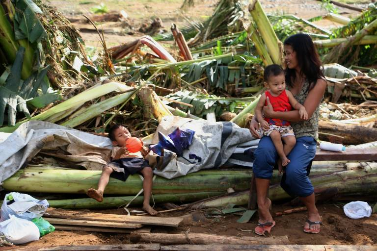 Tempestade nas Filipinas