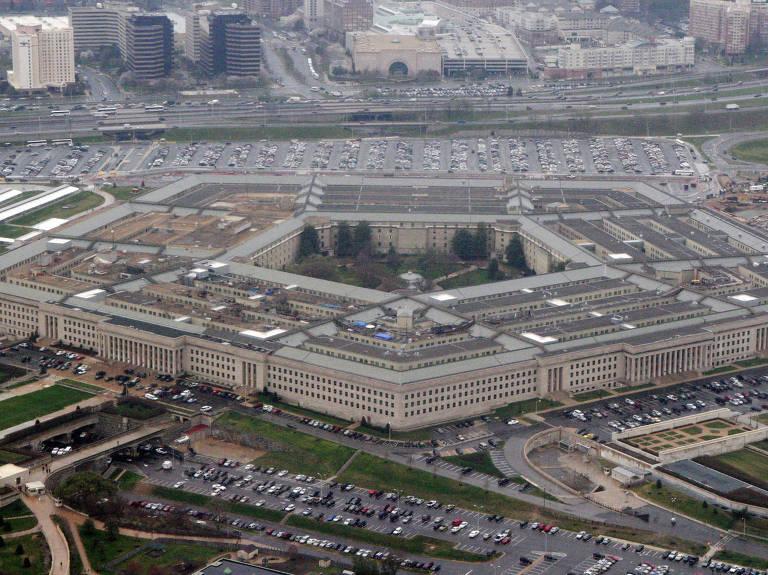 Vista aérea da sede do Pentágono, o Departamento de Defesa dos EUA – Associated Press