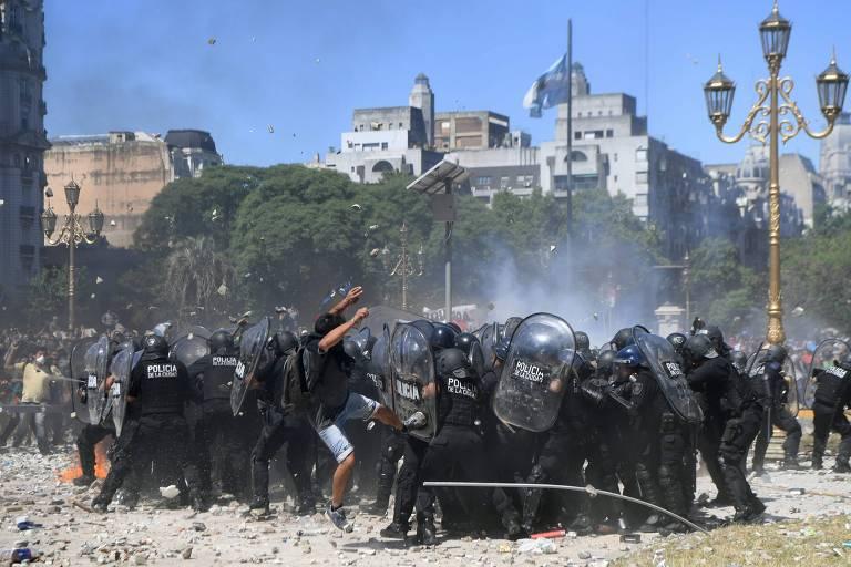 Greve geral e protestos na Argentina