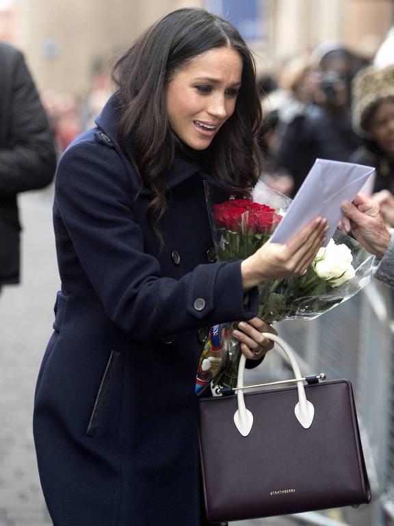 Meghan Markle em sua primeira aparição pública após ficar noiva do príncipe Harry