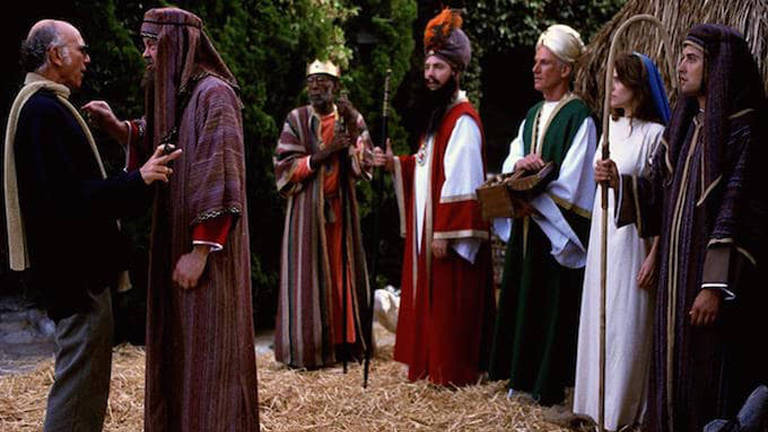 Cena do episódio 'Mary, Joseph, and Larry', de Curb Your Enthusiasm