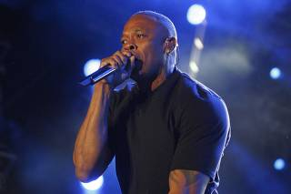 File of Dr. Dre performing at the Coachella Valley Music and Arts Festival in Indio