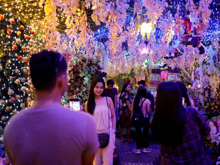 Luzes de Natal na Filipina