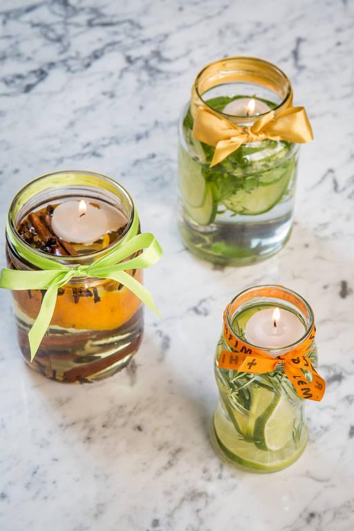 Os aromatizadores são versáteis e podem levar os ingredientes que preferir